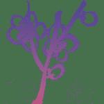 sumi-e Tuschzeichnung mit Pflaumenblüten